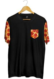 Camiseta Bsc Pizza Pocket Full Print - Masculino