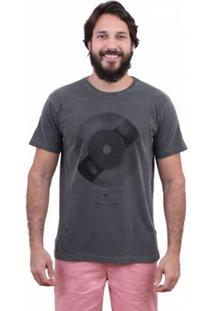 Camiseta Laundry Cd Music Rj Masculina - Masculino-Preto