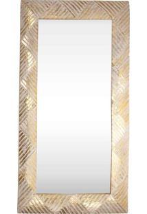 Espelho C/ Moldura Texturizada Wood