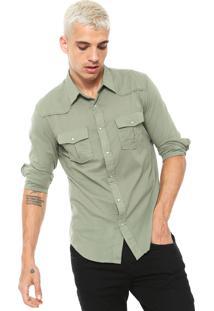 Camisa Osklen Slim Xadrez Branca/Preta