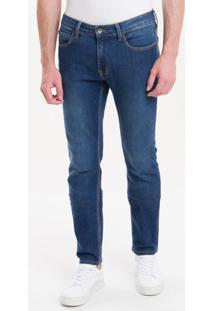 Calça Jeans Five Pockets Skinny - Azul Médio - 38