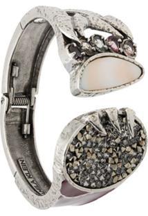 Camila Klein Bracelete Crystal Rocks - Prateado