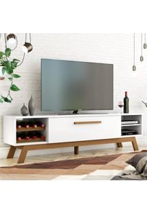 Rack Para Tv Vert Branco Amêndoa Casah