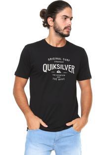 Camiseta Quiksilver West Piper Preta