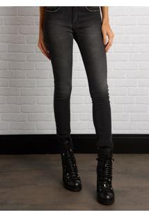 e86e8d228 ... Calça John John Midi Skinny Long Lamony Moletom Jeans Preto Feminina  (Jeans Black Medio,