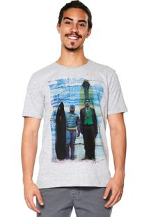 Camiseta Bypride Manga Curta Gotham Cinza