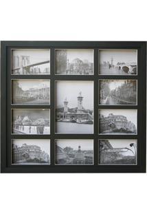 Painel Para Fotos Em Madeira Bee Collection 48X53Cm Preto