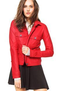Jaqueta Ellus Leather Denim Vermelha