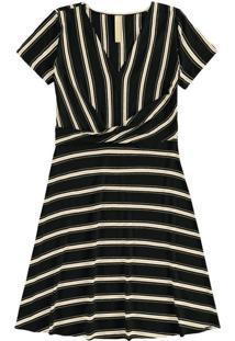 Vestido Malha Falaise Stripe Preto