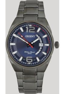 Relógio Analógico Orient Masculino - Mpss1007 D2Gx Prateado - Único