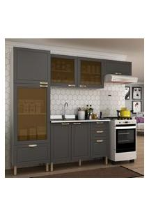 Cozinha Completa 4 Peças Americana Multimóveis 5687 Branco/Grafite