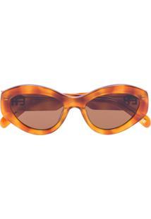 Chimi Óculos De Sol Gatinho X Elsa Hosk Marrom