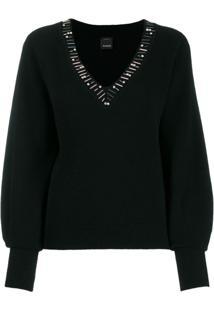 Pinko Suéter De Tricô - Preto