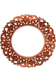 Espelho Redondo Mandala Floral 60Cm | Bali