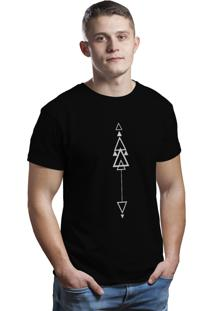 Camiseta Hunter Geometric Preta