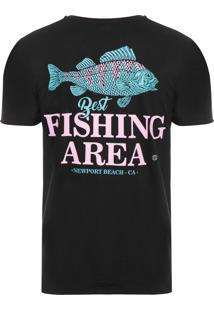 Camiseta Masculina Fishing - Preto