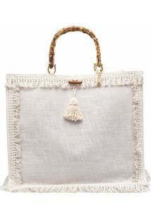 La Milanesa Tassel-Detail Shoulder Bag - Neutro