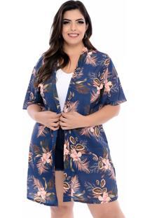 Kimono Arimath Plus Plus Size Orquídea Azul-54