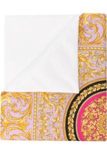 Young Versace Cobertor Com Estampado Barroca - Rosa