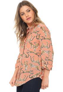 Camisa Lez A Lez Cheetah Rosa