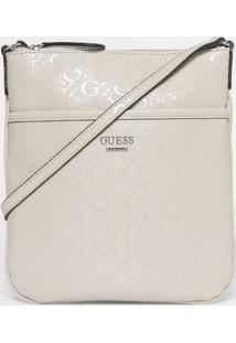 "Bolsa Transversal ""Guess®"" Com Correntes - Off Whiteguess"