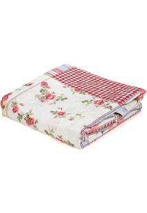 Kit De Colcha Com Porta Travesseiros Solteiro Andrezza Vinho