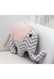 Enfeite Elefante Chevron Rosa - Rosa - Dafiti