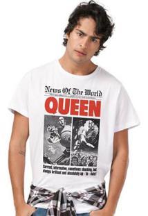 Camiseta Masculina Queen News Of The World - Masculino-Branco