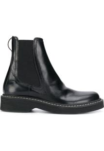 Marni Ankle Boot Slip On - Preto