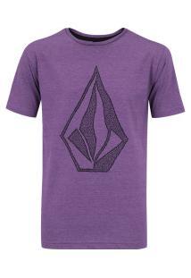 ... Camiseta Volcom Silk Creep Stone - Masculina - Roxo 073ae4d4fe31a