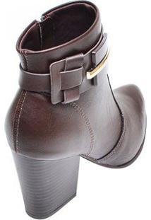 Bota Feminina Ankle Boot Ramarim Café