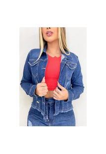 Jaqueta Jeans Destmoda Lançamento Azul