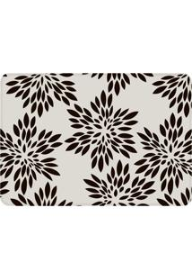 Tapete Love Decor De Sala Wevans Flowers Branco/Preto