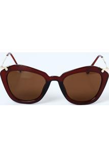 Óculos Feminino De Sol Gateado Marisa