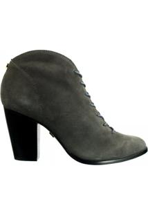 Ankle Boot Feminina Jorge Bischoff Napa J51065003 A06 - Feminino-Cinza