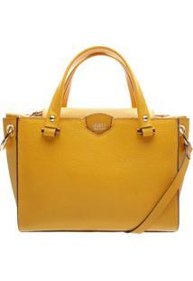 Bolsa Em Couro Com Lapela- Amarela- 19X25X12Cmarezzo & Co.