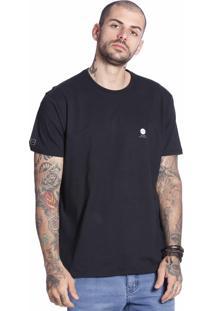 Camiseta Vlcs Logotipia Diferenciada Preta