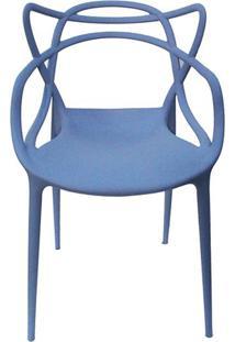 Cadeira Master Allegra Polipropileno Azul Caribe - 38025 - Sun House