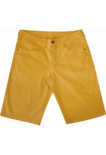Bermuda Pau A Pique Color - Masculino-Amarelo