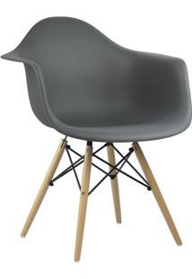 Cadeira Cinza Escuro Charles Eames Wood Daw Em Pp