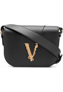 Versace Bolsa Tiracolo Virtus - Preto