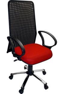 Cadeira De Escritório Diretor Milão Vermelho