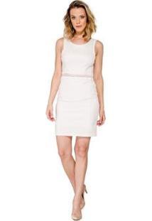 Vestido Slim Listrado Handbook - Feminino-Off White