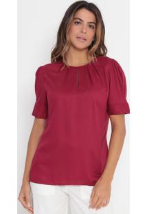 Blusa Texturizada Com Pregas- Vermelho Escurovip Reserva