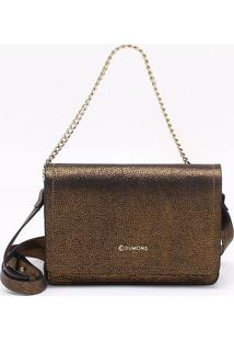 Bolsa Shoulder Bag Couro Bronze - P