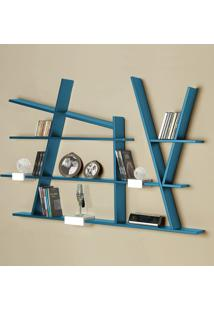 Prateleira Decorativa Turner 325 Azul - Maxima