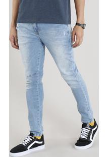 Calça Jeans Masculina Carrot Azul Claro