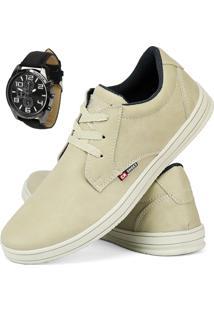 Sapatênis Cr Shoes Lançamento 2019 Areia Com Relógio