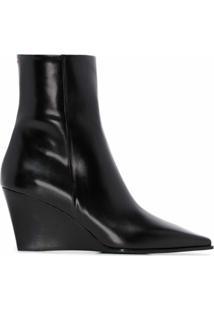 Aeyde Ankle Boot Plataforma Lena - Preto