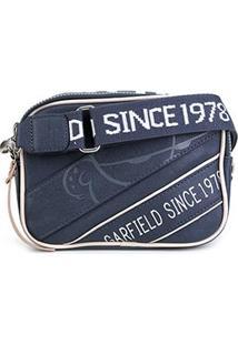 Bolsa Semax Mini Bag Transversal Garfield Feminina - Feminino-Azul Escuro